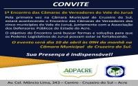 Cruzeiro do Sul sediará primeiro Encontro das Câmaras de Vereadores do Vale do Juruá